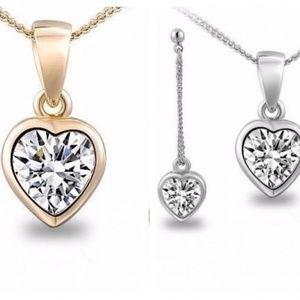 Heart Austrian Crystal Necklace
